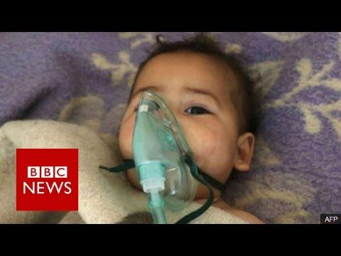 Syria conflict: 'Chemical attack' in Idlib kills 58 - BBC News
