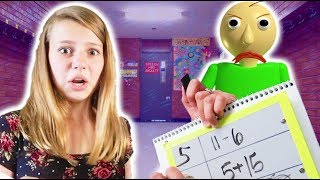 Baldi's Basics in Learning and Education in Real Life! | Back To School Edition in a Real School!