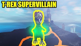 Playing as T-REX SUPERVILLAIN   Roblox Mad City