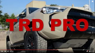 2016 trd pro series toyota tacoma tundra 4runner walkaround review