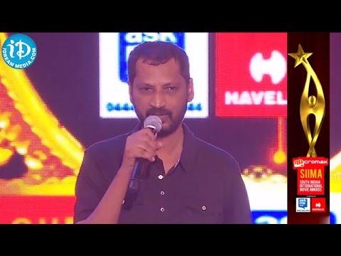 "SIIMA 2014   Tamil Best Lyricist Na. Muthukumar for ""Ananda Yaazhai"" Song - Thangameengal"