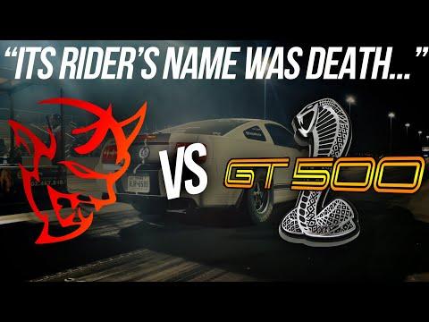 The BADDEST stick shift GT500 I've raced 😲 Mustang GT500 vs Dodge Demon | Demonology