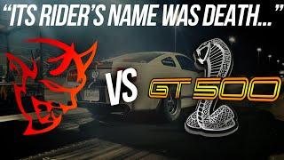 The BADDEST stick shift GT500 I've raced 😲 Mustang GT500 vs Dodge Demon   Demonology