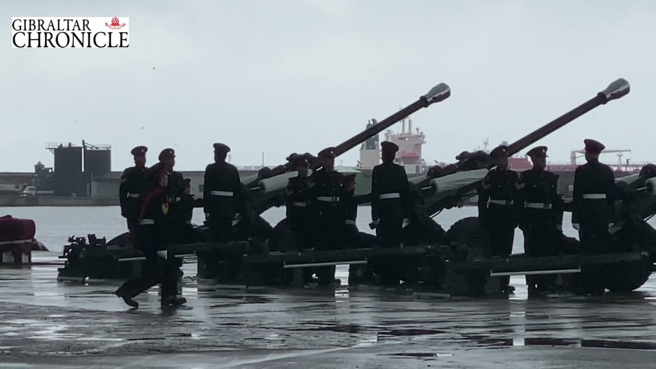 Under rainy skies in Gibraltar, a 41-gun salute for Prince Philip