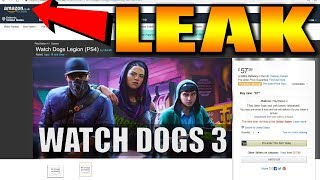 Watch Dogs Legion Leak by AMAZON UK Gameplay Details & Info Ahead of E3 2019 aka Watch Dogs 3