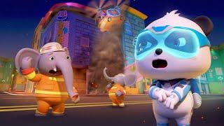 الحريق والسيد فيل |مغامرات كرتون بيبي ياص | رسوم متحركة للاطفال | بيبي باص | BabyBus Arabic