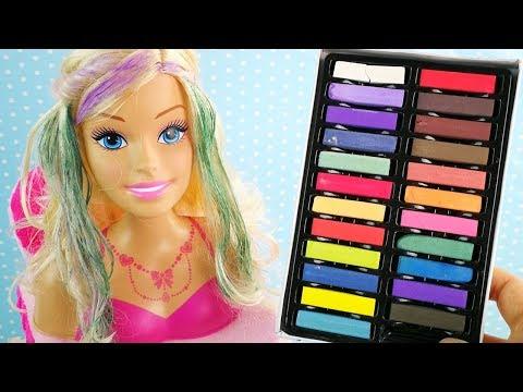 #Кукла Барби В Салоне Красоты Красим Волосы Красками Играем В Игрушки Для девочек 108mamaTV