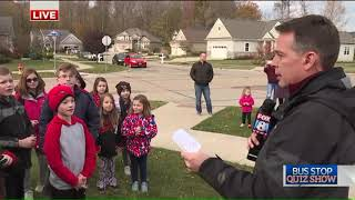 Fox 8 Bus Stop Quiz Show: Mentor elementary students