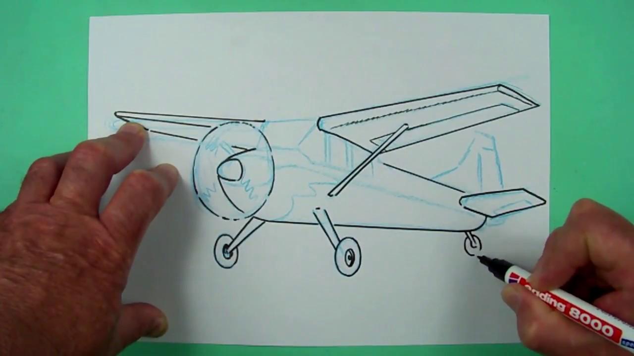 wie zeichnet man ein propellerflugzeug zeichnen f r kinder und jedem dem es spa macht. Black Bedroom Furniture Sets. Home Design Ideas