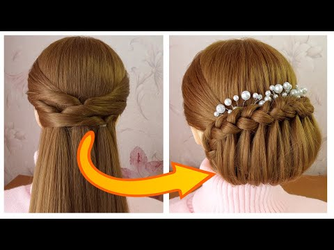 Quick & Easy Hairstyle For Wedding/Party | Bun Hairstyle | Coiffure mariage facile à faire thumbnail