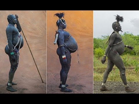 Ethiopian Bodi tribe where big is beautiful and men compete to be the fattest thumbnail