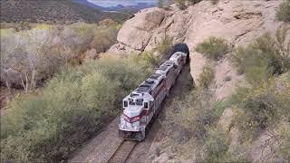 The Copper Basin Railway&#39s OT-1 and Unit Train.