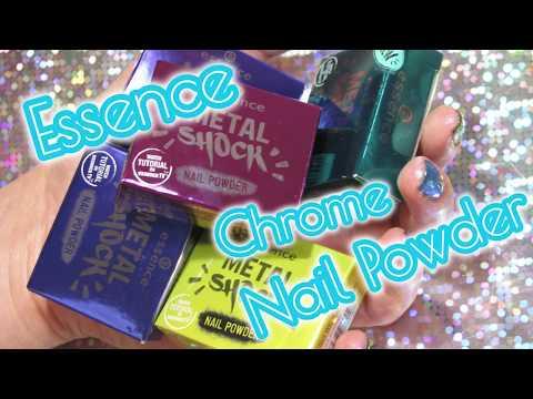 Essence Sortimentsumstellung Metal Shock Nail Powder Swatch Party - Einfach Perfekt, Unperfekt