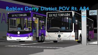 [4x] Roblox Derry District A84 zum Flughafen POV Zeitraffer