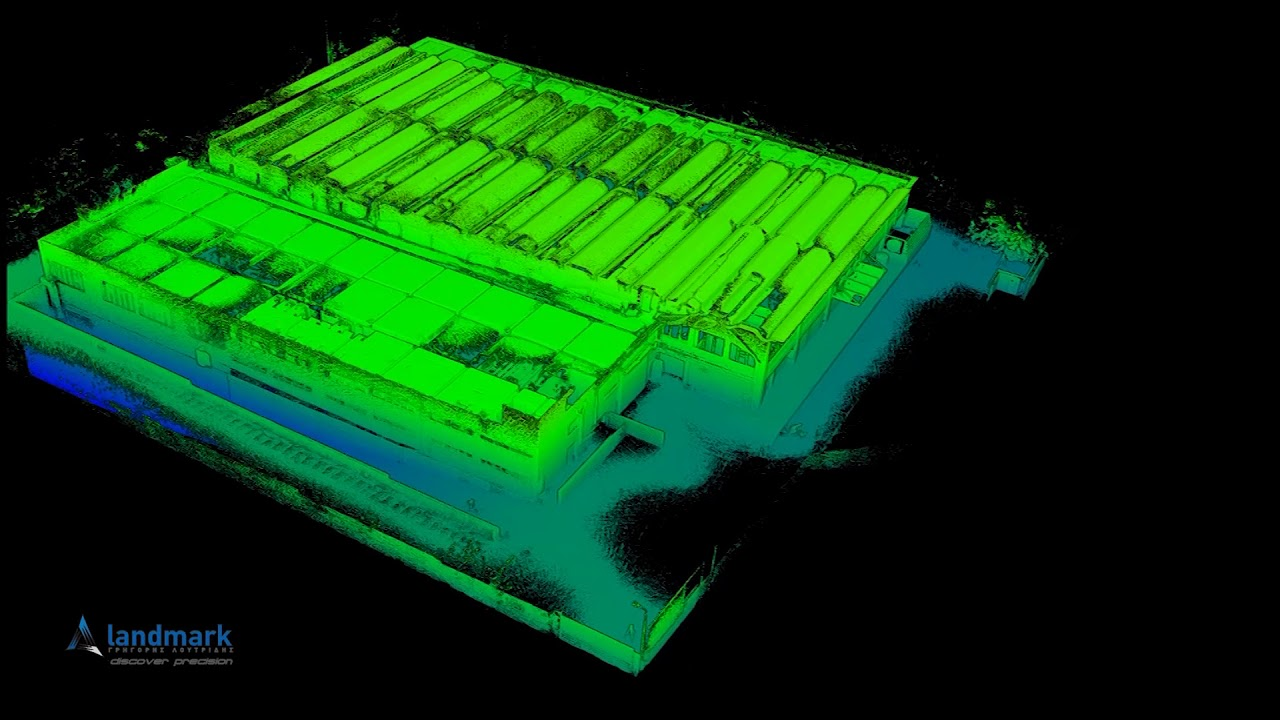 3D laser scanning of an Industrial Building in Athens, Greece using the GeoSLAM ZEB-REVO