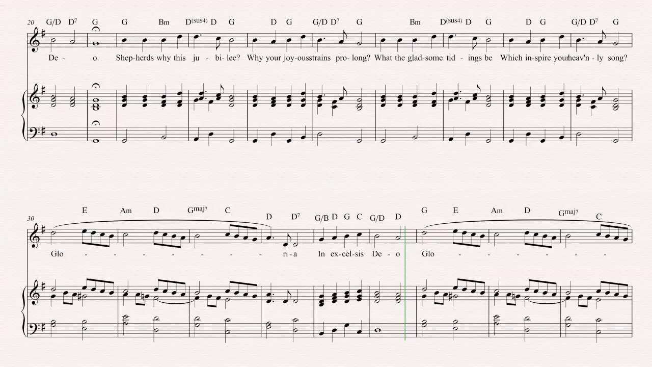 Flute Angels We Have Heard On High Christmas Carol Sheet Music