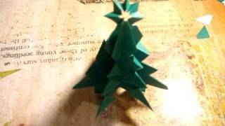 How to make an easy and pretty Origami Christmas Tree