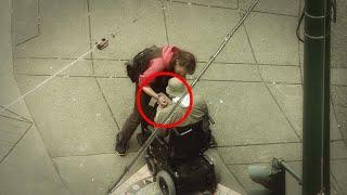 Als der Polizist in einem Rollstuhl verdeckt ermittelt um Diebe zu fangen, kamen Ihm die Tränen