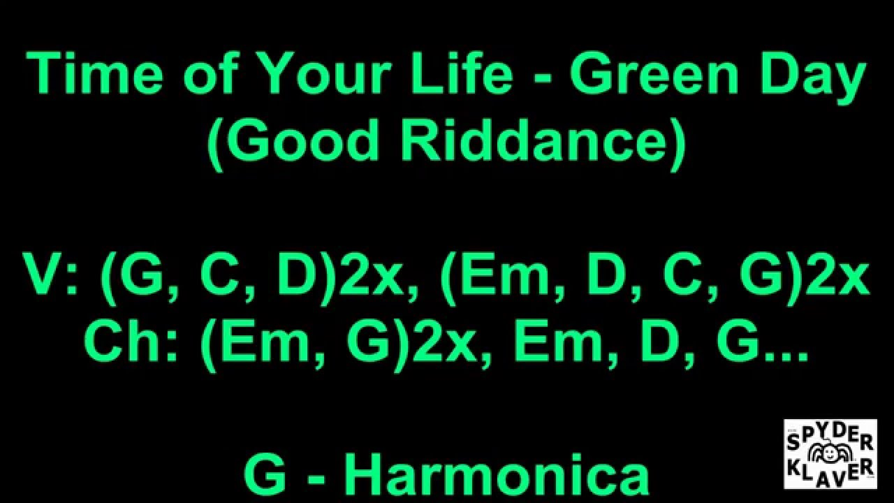 Good Riddance Time Of Your Life Green Day Lyrics Chords