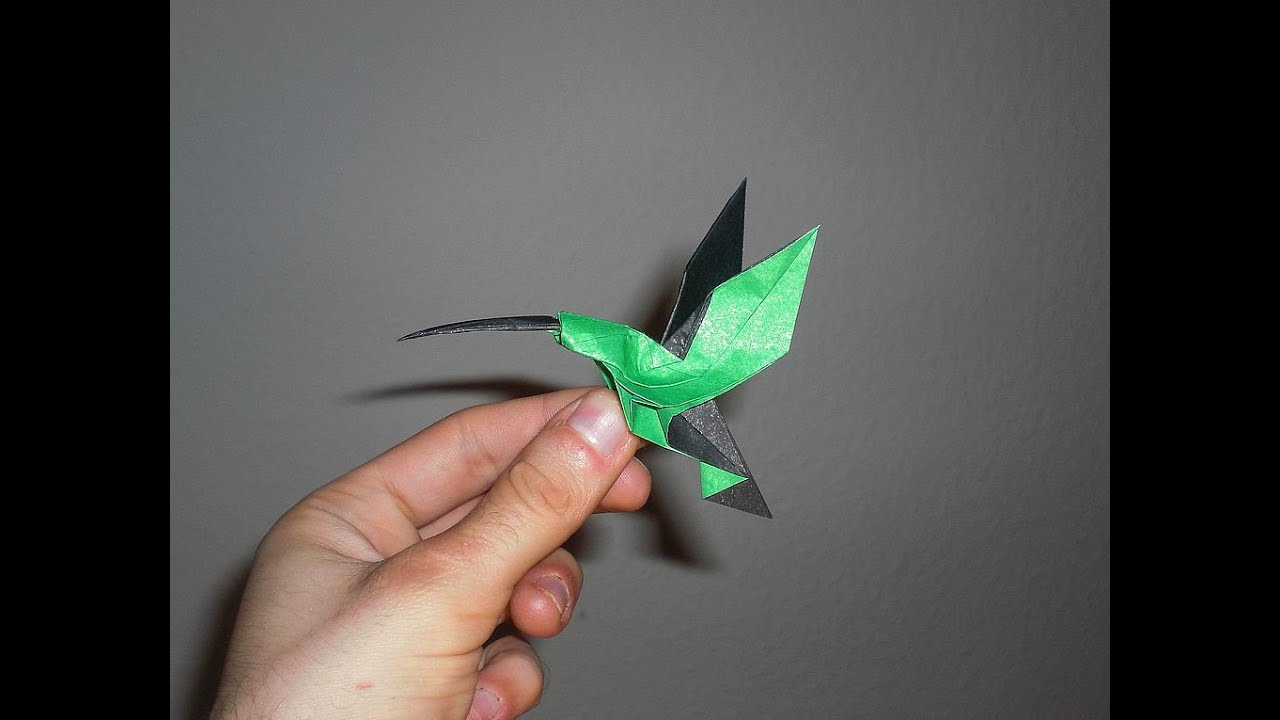 origami hummingbird diagram instructions single phase run capacitor wiring christopher randall tutorial youtube