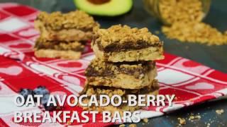 Oat Avocado-Berry Breakfast Bars