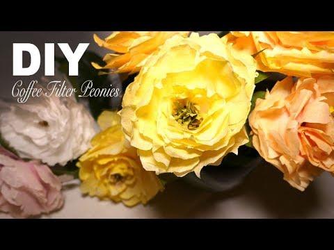 DIY | Simple Realistic Peony - Coffee Filter Flowers