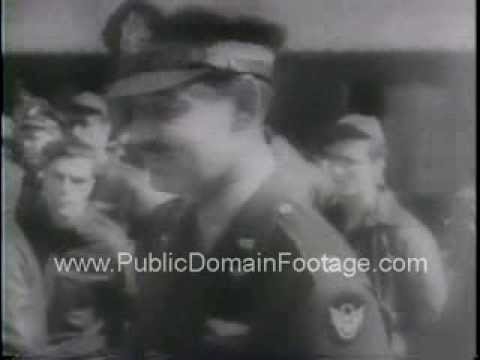 General Arnold and Clark Gable in WWII newsreel archival footage