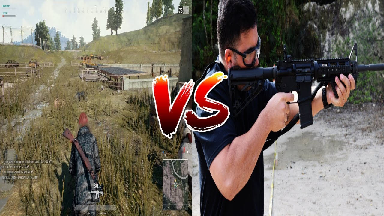 PUBG Weapons In Real Life! (AKM, AWM, M4, M16, Kar98K And