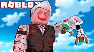 UNSERE EVIL GRANDPA TRIED TO EAT US IN ROBLOX 😱