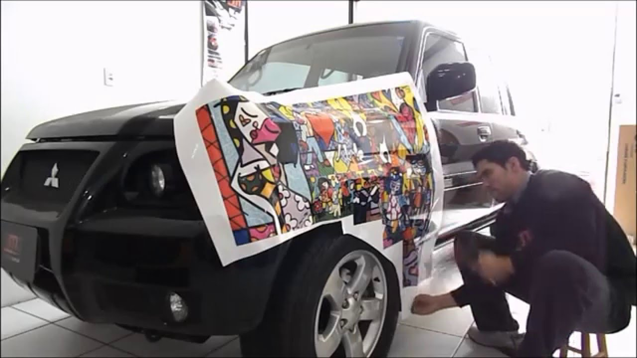 romero britto em sticker bombs hmd car youtube. Black Bedroom Furniture Sets. Home Design Ideas