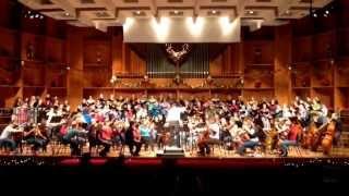 Hanukkah fantasy by Biegel- Fairbanks Symphony Chorus and orchestra holiday dress.