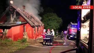 Brand i hus ved Silkeborg