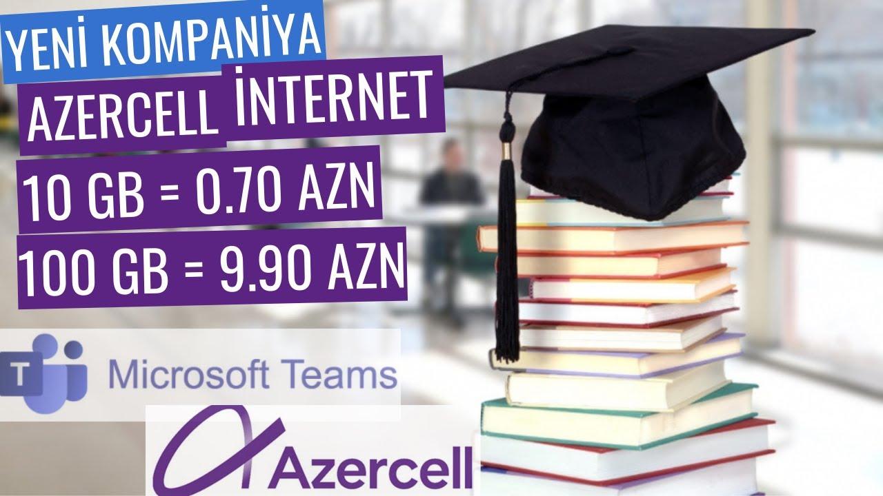 Azercell Tehsil Internet Paketi Microsoft Teams Youtube