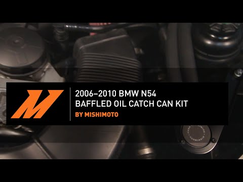 2006-2010 BMW N54 Baffled Oil Catch Can, CCV Side Installation Guide By Mishimoto