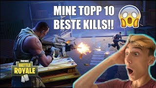 MINE TOPP 10 BESTE KILLS PÅ FORTNITE?! 😱 6000 ABONNENTER SPESIAL!! 🔥
