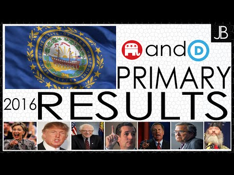 New Hampshire Primary 2016 GOP and DNC Results