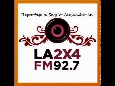 SERGIO ALEJANDRO (TANGOS) Reportaje en la 2X4,FM  TANGO 92 7