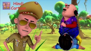Motu Patlu VS John Inspector Motu Patlu Coloring in Hindi - 3D Animation Cartoon Coloring Pages