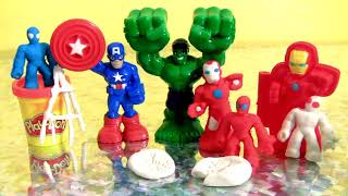 Play-Doh Marvel Hero Tools The Hulk Captain America Spider-Man and Iron Man