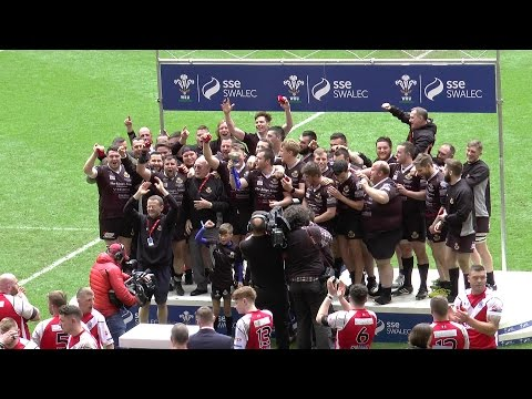 Highlights of the Final of  BURRY PORT v TAFFS WELL at the Principality Stadium Cardiff 01/05/2016