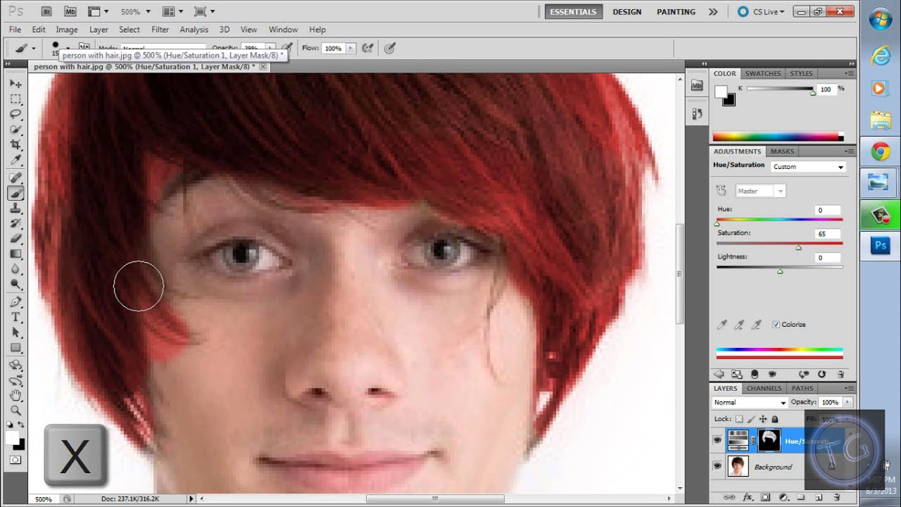 how to change skin color in photoshop cs5