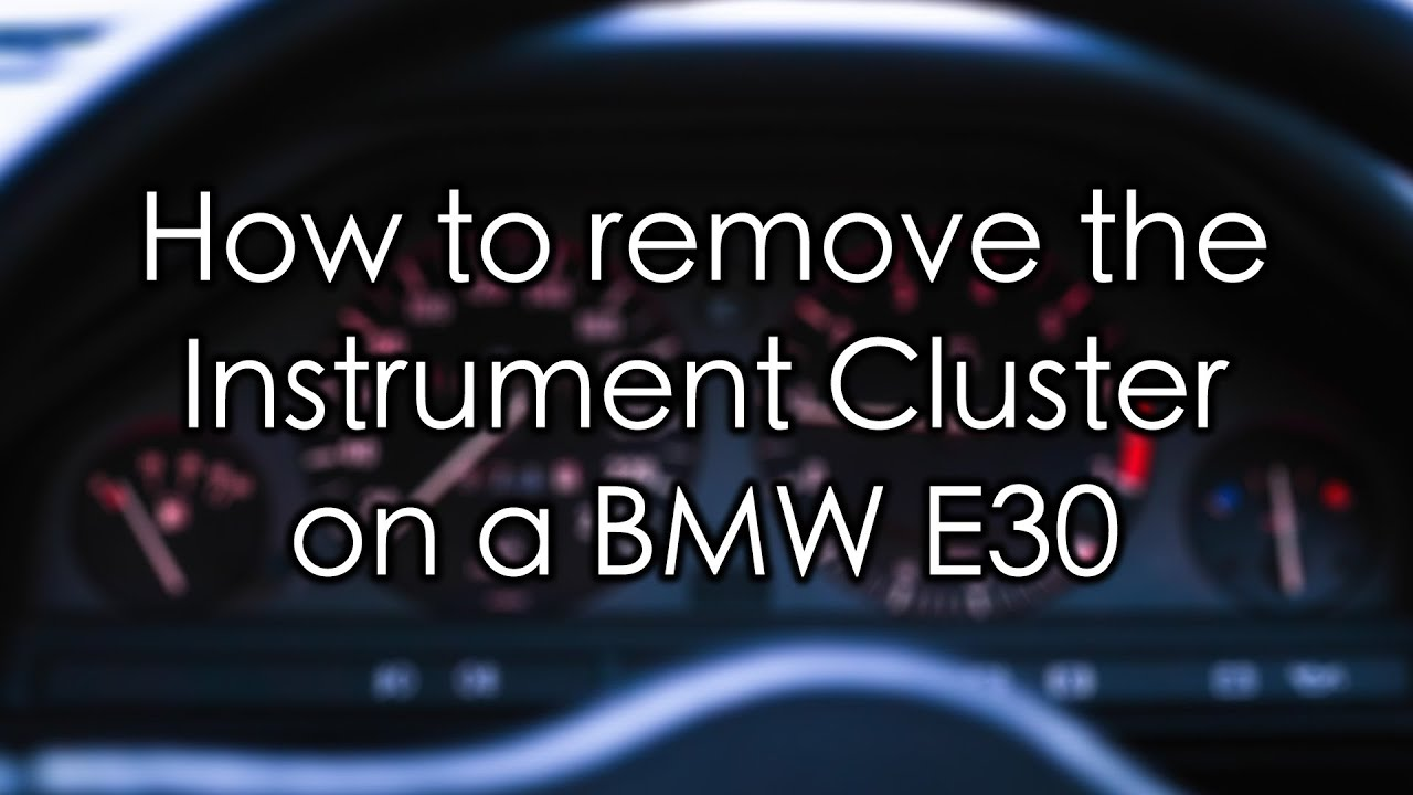 How To Remove The Instrument Cluster On A Bmw E30 Youtube Wiring Harness Removal