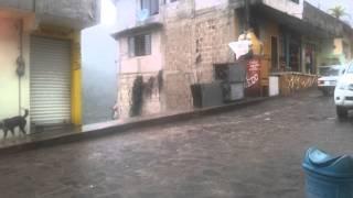 En Huehuetla Puebla ligera lluvia