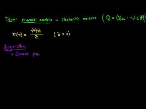 (ML 18.7) Metropolis algorithm for MCMC