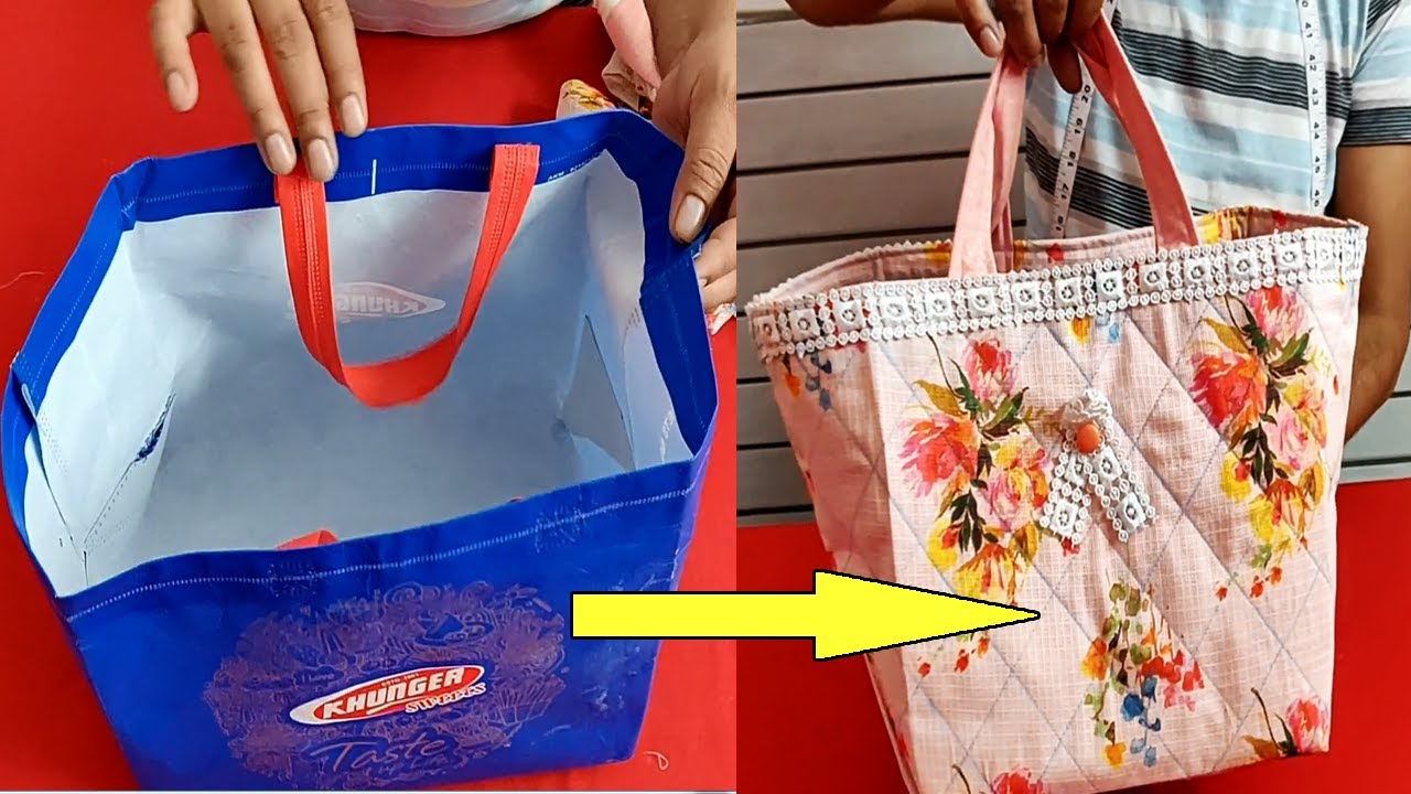 Designer Ladies Shopping Bag Cutting and Stitching