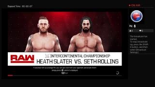 Seth Rollins vs. Heath Slater, intercontinental championship match WWE2K19