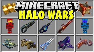 Minecraft HALO WARS MOD | HALO GUNS, TANKS, ACTIVE CAMOUFLAGE, INCINERATOR CANNONS & MORE!!