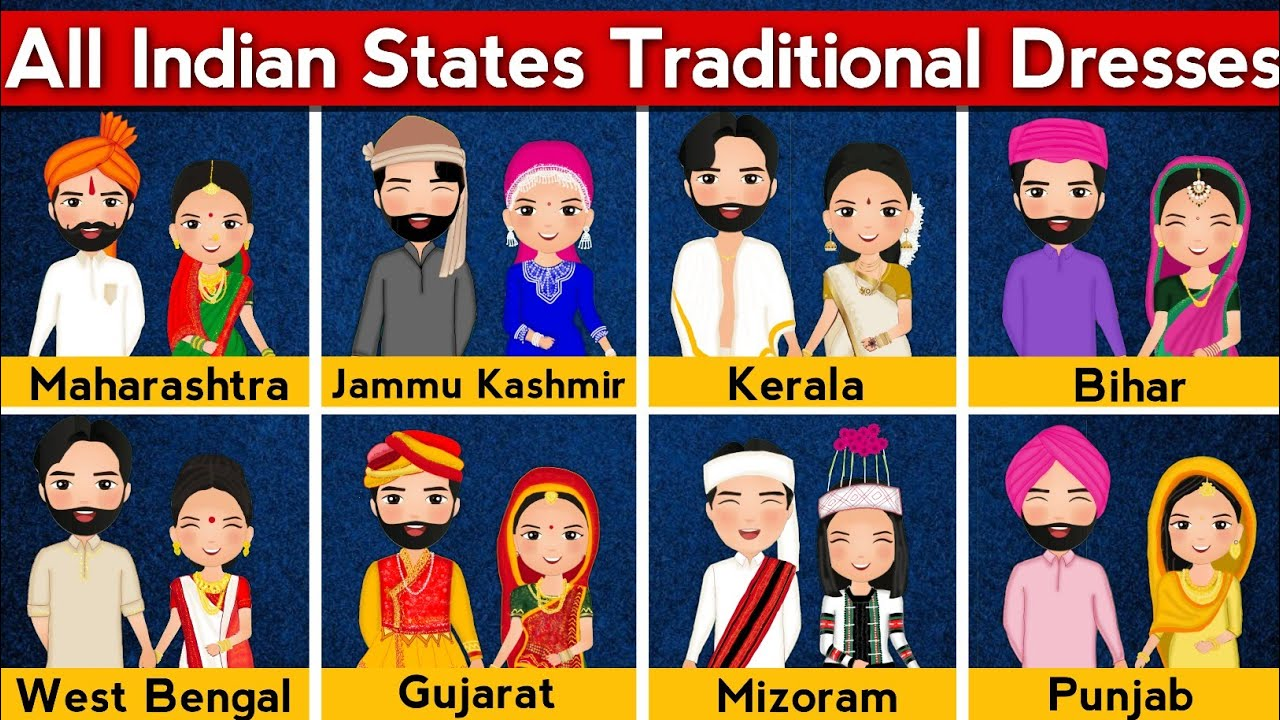 Traditional Dresses From All Indian States   Traditional Costumes of All Indian States   Diversity