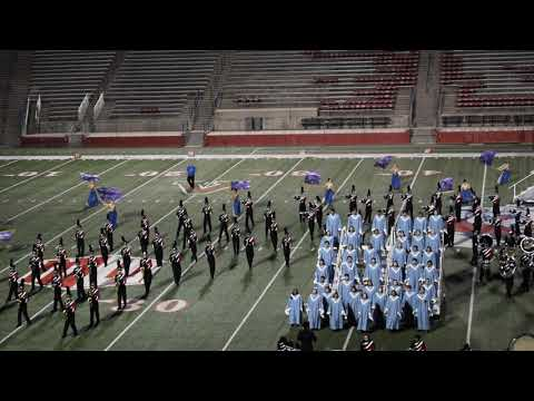 Saratoga HS Marching Band Color Guard: Find Your Voice @ Sierra Cup Fresno Oct 2017 (close-up)