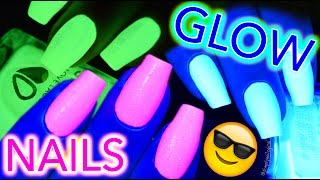 GET GLOW NAILS! Glow-in-the-dark and black light PARTY TIME